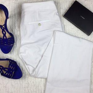 Express Columnist White Dress Slacks